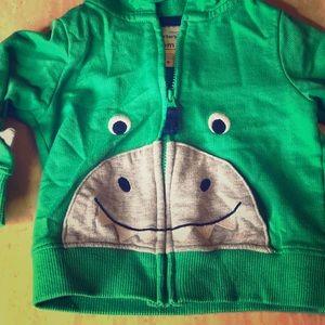 Carters Dinosaur Hoodie